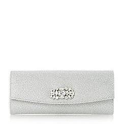 Roland Cartier - Silver 'Barline' embellished fold over clutch bag