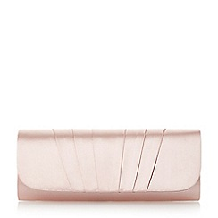 Roland Cartier - Pink 'Bergenia' satin flap clutch bag