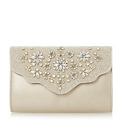 Roland Cartier - Gold 'Bintory' embellished flap clutch bag