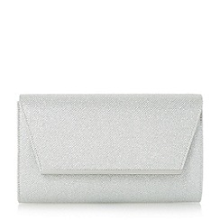 Roland Cartier - Silver 'Blyss' metal hardware detail flap clutch bag
