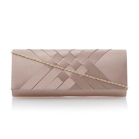 Roland Cartier - Taupe satin interwoven clutch bag