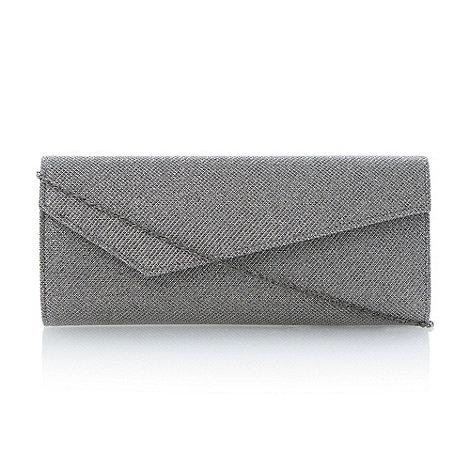Roland Cartier - Pewter asymmetric clutch bag