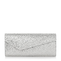 Roland Cartier - Metallic asymmetric glitter clutch bag