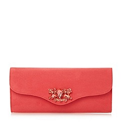 Roland Cartier - Pink embellished foldover clutch bag