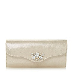 Roland Cartier - Metallic embellished foldover clutch bag
