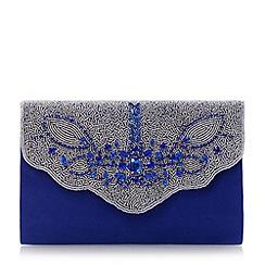 Roland Cartier - Blue embellished fold over clutch bag