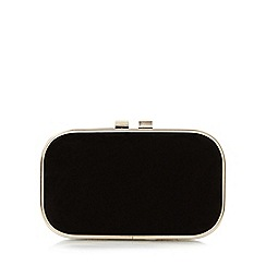 Roland Cartier - Black 'Barna' reptile print box clutch bag
