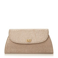 Roland Cartier - Gold 'Bellgrave.' fold over turn lock clutch bag