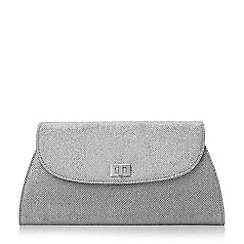 Roland Cartier - Silver 'Bellgrave.' fold over turn lock clutch bag