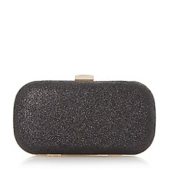 Roland Cartier - Black 'Bonetti' glitter box clutch bag