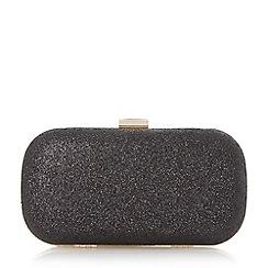 Roland Cartier - Black 'Bonetti' glitter box clutch bag