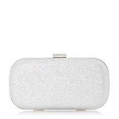 Roland Cartier - Silver 'Bonetti' glitter box clutch bag