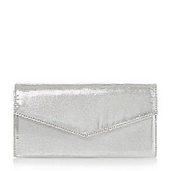 Roland Cartier - Silver 'Berla' envelope fold over clutch bag