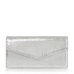 Roland Cartier - Silver 'Berla' envelope fold over clutch bag