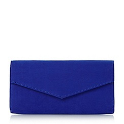 Roland Cartier - Blue 'Berla' envelope fold over clutch bag