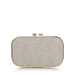 Roland Cartier - Gold 'Barna' reptile print box clutch bag
