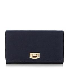 Roland Cartier - Navy 'Becka' flip lock clutch bag