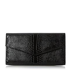 Roland Cartier - Black 'Berla' envelope fold over clutch bag