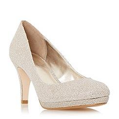 Roland Cartier - Gold 'Balum' round toe platform court shoe