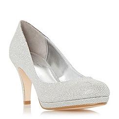 Roland Cartier - Silver 'Balum' round toe platform court shoe