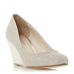 Roland Cartier - Gold 'Balvina' round toe wedge court shoe