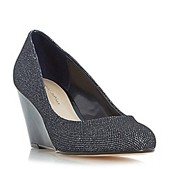 Roland Cartier - Navy 'Balvina' round toe wedge court shoe