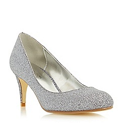 Roland Cartier - Silver 'Balace' round toe mid heel court shoe