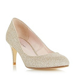 Roland Cartier - Gold 'Balace' round toe mid heel court shoe