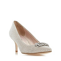 Roland Cartier - Gold 'Brice' embellished brooch detail court shoe