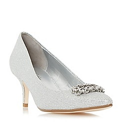 Roland Cartier - Silver 'Brice' embellished brooch detail court shoe