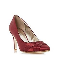Roland Cartier - Navy 'Bronelle' satin weave detail court shoe