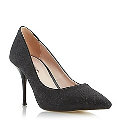 Roland Cartier - Black 'Baroness' glitter pointed toe court shoe