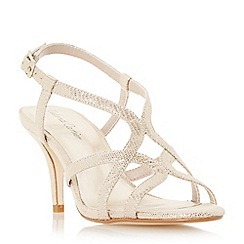 Roland Cartier - Gold 'Myer' strappy mid heel sandal