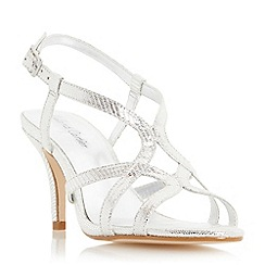 Roland Cartier - Silver 'Myer' strappy mid heel sandal