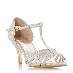 Roland Cartier - Gold 'Malabu' t-bar strappy mid heel sandal