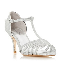 Roland Cartier - Silver 'Malabu' t-bar strappy mid heel sandal