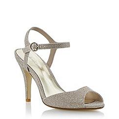 Roland Cartier - Nude mesh heeled peep toe sandal
