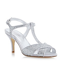Roland Cartier - Metallic glitter cross strap heeled sandal