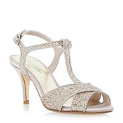 Roland Cartier - Metallic glitter cross strap heeled sandal