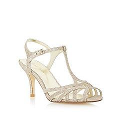 Roland Cartier - Metallic strappy mid heel sandal