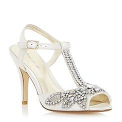 Roland Cartier - Neutral embellished jewel heeled sandal