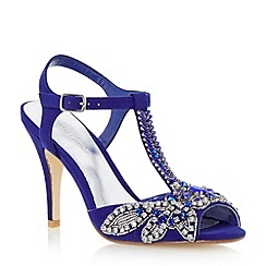 Roland Cartier - Blue embellished jewel heeled sandal