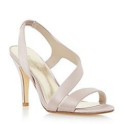 Roland Cartier - Neutral satin asymmetric strappy sandal