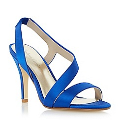 Roland Cartier - Blue satin asymmetric strappy sandal