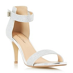 Roland Cartier - Silver 'Merin' two part mid heel sandal