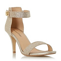 Roland Cartier - Gold 'Merin' two part mid heel sandal
