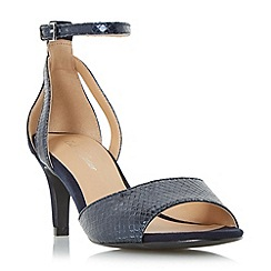 Roland Cartier - Navy 'Magna' two part mid heel sandal