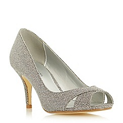 Roland Cartier - Metallic cross over front peep toe court shoe