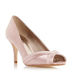 Roland Cartier - Pink 'Daylie' satin weave peep toe court shoe