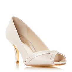 Roland Cartier - Light gold 'Daylie' satin weave peep toe court shoe